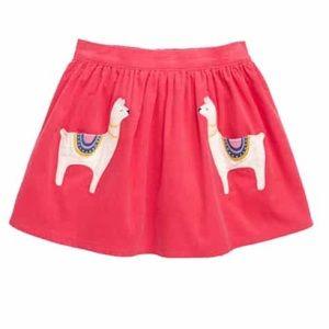 NWT Mini Boden skirt corduroy llamas pockets 6-7Yr